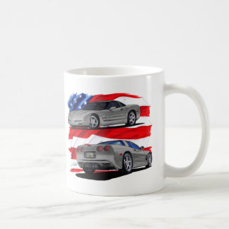 1999-04 Corvette Grey Car Coffee Mug