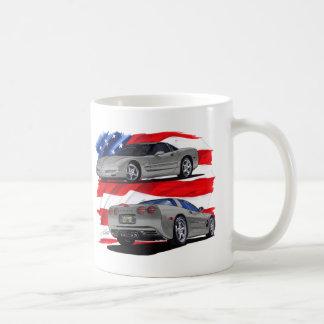 1999-04 Corvette Grey Car Coffee Mug