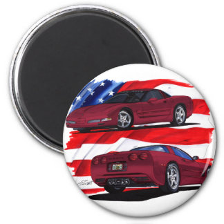 1999-04 Corvette Maroon Car Magnet