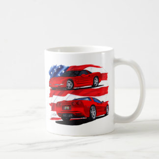 1999-04 Corvette Red Car Coffee Mug