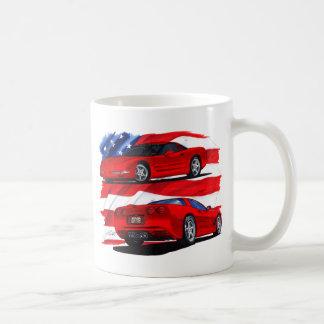 1999-04 Corvette Red Car Coffee Mugs