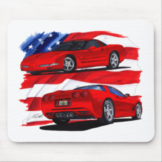 1999-04 Corvette Red Car Mouse Pad