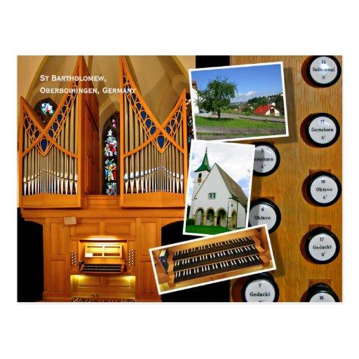 1999 órgano de Vier, Oberboihingen Tarjeta Postal