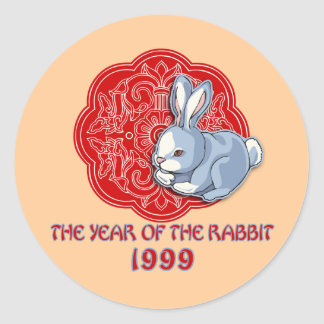 1999 The Year of the Rabbit Gifts Round Sticker