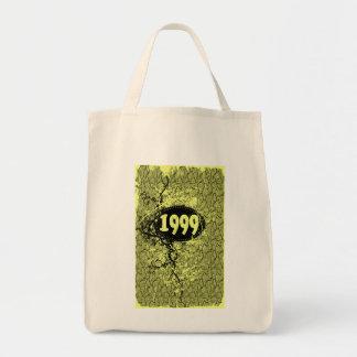 1999 - Vintage amarillo de la grieta retro - las Bolsa Tela Para La Compra