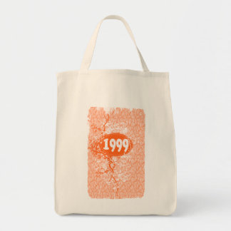 1999 - Vintage anaranjado de la grieta retro - las Bolsa Tela Para La Compra