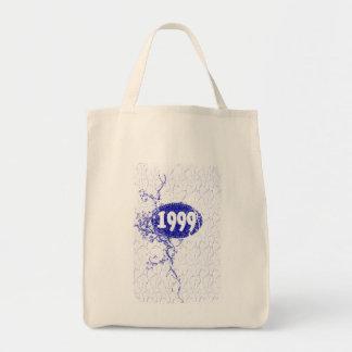 1999 - Vintage azul de la grieta retro - las Bolsa Tela Para La Compra