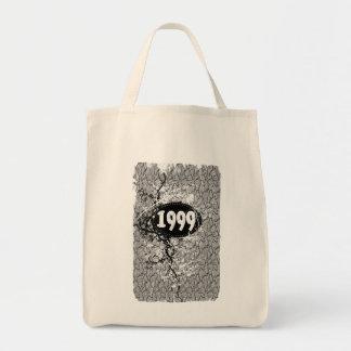 1999 - Vintage de la grieta del modelo retro - las Bolsa Tela Para La Compra