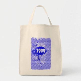 1999 - Vintage púrpura de la grieta retro - las Bolsa Tela Para La Compra