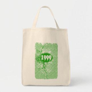 1999 - Vintage verde de la grieta retro - las Bolsa Tela Para La Compra