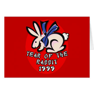 1999 Year of the Rabbit Apparel and Gifts Greeting Card