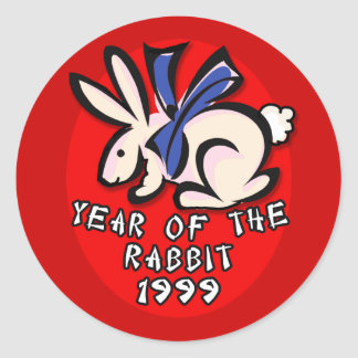 1999 Year of the Rabbit Apparel and Gifts Sticker
