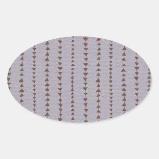 199 BROWN ARROWS PURPLE BACKGROUND WALLPAPER STRIP OVAL STICKER