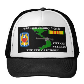 """199th Light Infantry Brigade""""The Red Catchers"""" Cap Trucker Hat"""
