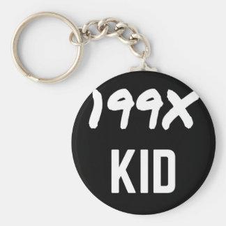 199X Ninety's Generation X Illustration Design Keychain