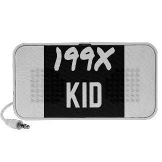 199X Ninety's Generation X Illustration Design Mini Speaker