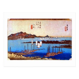 19. 江尻宿, 広重 Ejiri-juku, Hiroshige, Ukiyo-e Postal