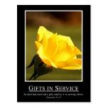 19:17 de los proverbios - utilice sus regalos para tarjeta postal