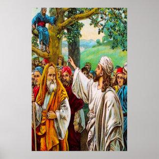 19:1 de Lucas - 10 Jesús ahorra un recaudador de Póster