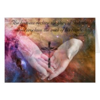 19:1 del salmo tarjeta de felicitación