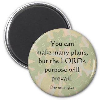 19:21 de los proverbios imán de frigorifico
