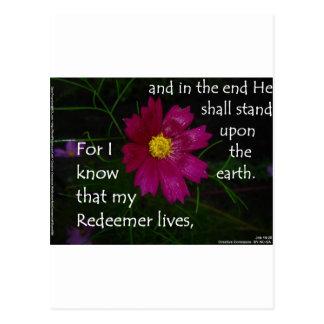 ¡19:25 del trabajo sé que vive mi redentor! tarjetas postales
