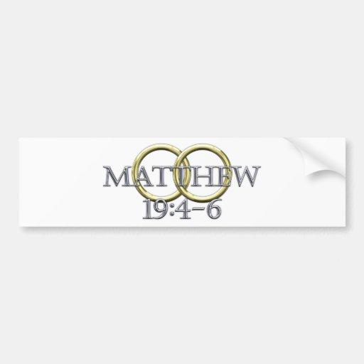 19:4 de Matthew - 6 Pegatina Para Auto