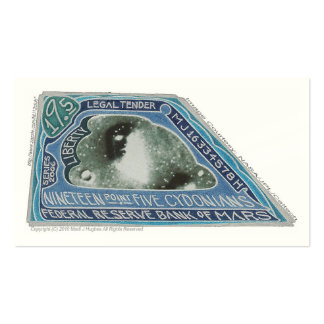 19.5 CYDONIANS Notes-Bank oF Mars-(+N-) X 100 Double-Sided Standard Business Cards (Pack Of 100)