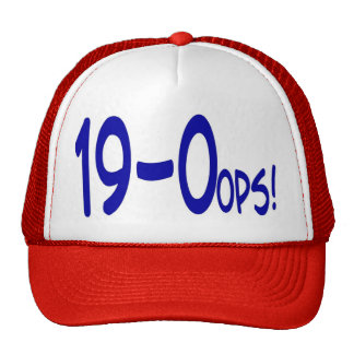 19 and 0ops Cap Mesh Hats