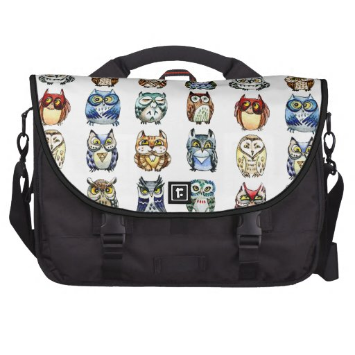 19 and 1 Owls and cat Laptop Computer Bag