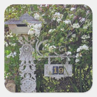 #19 australia letterbox square sticker