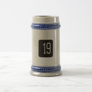 #19 Black Square Beer Stein