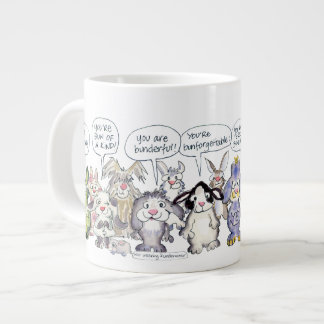 19 Cartoon Appreciation Bunny Rabbits Jumbo Mug