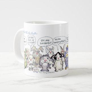 19 Cartoon Bunny Rabbits Jumbo Mug