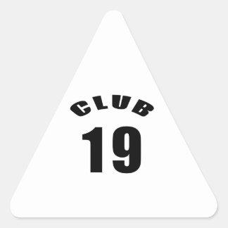 19 Club Birthday Designs Stickers
