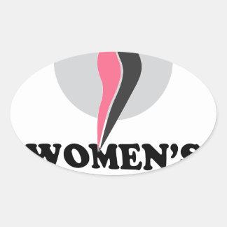 19 de enero - día sano del peso de las mujeres pegatina ovalada