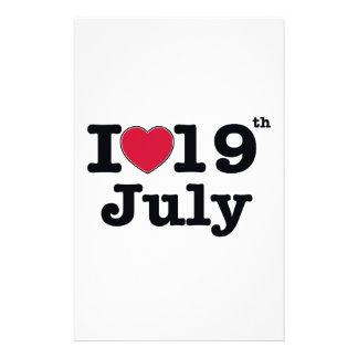 19 de julio mi día de cumpleaños papelería personalizada