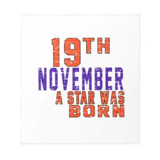 19 de noviembre una estrella nació libreta para notas