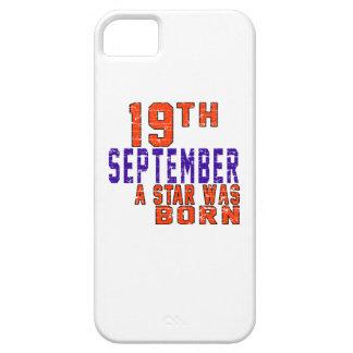 19 de septiembre una estrella nació iPhone 5 carcasas