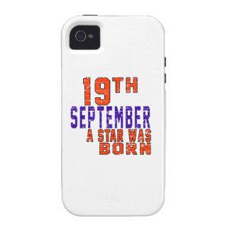 19 de septiembre una estrella nació iPhone 4 funda