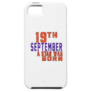 19 de septiembre una estrella nació iPhone 5 Case-Mate cárcasas