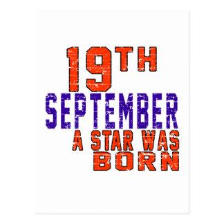 19 de septiembre una estrella nació postal