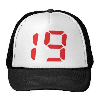 19 diecinueve números digitales del despertador de gorras de camionero