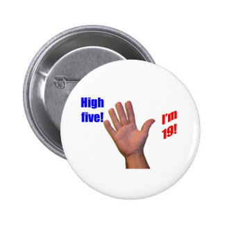 19 High Five! Pinback Button