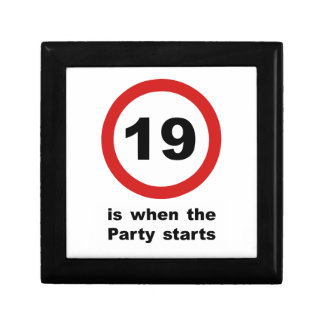 19 is when the Party Starts Keepsake Box
