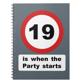 19 is when the Party Starts Notebook