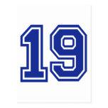 19 - nineteen post card