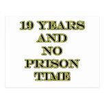 19 no prison time postcard