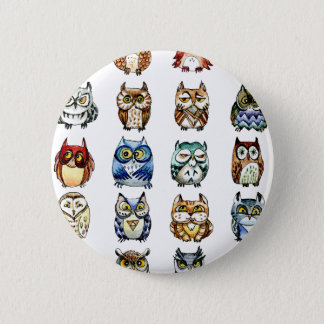 19 Owls and 1Cat Pinback Button