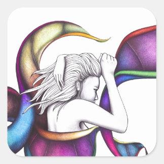 #19 – pensieri vorticosi square sticker